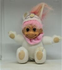 Russ Rabbit with ears and face on cap t Soft Body Troll Doll Susie Stored