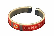 CANADA 150 YEARS ANNIVERSARY 1867-2017 WHITE RED FLEXIBLE C BRACELET WRISTBAND