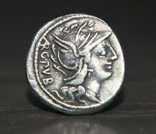 More details for roman l. sentius c.f. 101 bc silver denarius coin