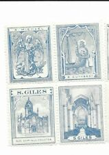 Great Britain Scottish Sunday School stamps 1890's se-tenant block of 4,St.Giles