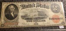 1917 $2 Two Dollar Bill !! US Note !! Jefferson  !!