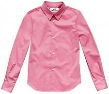 COMME DES GARCONS H&M RARE PINK 100% COTTON SHIRT SMALL UK 12 EU 38 US 8 BNWT