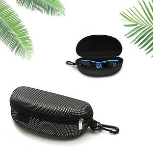 New Oakley black Sunglasses Case w/ Cleaning Cloth Dust bag Travel Pack Pouch UK