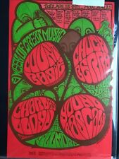 Count Basie, Chuck Berry, Charles Lloyd- Fillmore BG 78- 1967-Concert Poster 1st
