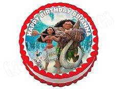 Moana **ROUND** edible cake image frosting sheet topper party decoration