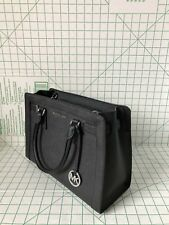 NWT Michael Kors Dillon Top Zip Satchel Medium Saffiano Leather Bag Black
