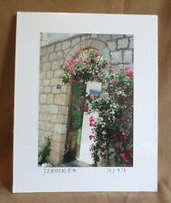 "David Cohen Photograph Traditional Jerusalem Site Official Seal 11 3/8"" x 9"""