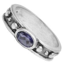 Anillos de joyería naturales de plata de ley tanzanita