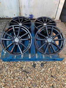 """18"""" Pretoria Golf R Style Alloy Wheels Only Gloss Black for Volkswagen Caddy"""