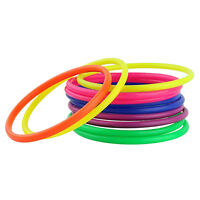 10× Plastic Toss Rings Circle Hoopla-Game Fun Throw to Hook Kids Child Toys V1Y5