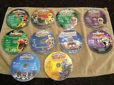 Power Rangers Huge DVD Disc only lot of 10 different movies all play great