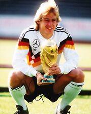Jurgen Klinsmann SIGNED 10X8 Photo GERMAN WORLD CUP WINNER AFTAL COA (1155)