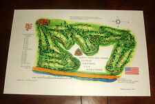Vintage TORREY PINES GOLF COURSE PRINT South Course San Diego - BRAND NEW UNUSED