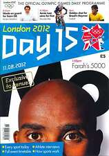 OLYMPIC GAMES DAY 15 FIFTEEN DAILY PROGRAMME LONDON 2012