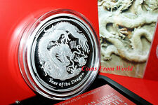 Australia 2012 Silver Proof 1kg Lunar II Dragon Coin. Only 500 pcs. Uncirculated