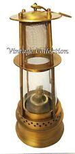 "Antique Brass Minor Oil Lamp 12"" Vintage Nautical Ship Boat Light Maritime Decor"