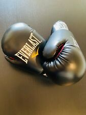 Everlast boxing gloves 8 oz size M Black and Red / Perfect Condition