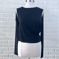 MM6 Maison Margiela XSmall XS Black Cold Shoulder Blouse Top Black EUC Rare HTF