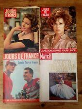 LOT 4 revues Années 50/60 Paris Match Jours de France Jane Fonda ...