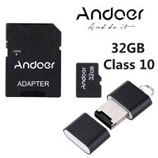 Andoer 32GB Class10 Memory Card TF Card Adapter for Camera Car CellPhone PC I7L4