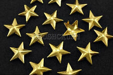 100pcs 10mm Gold Nautical STAR STUDS Nailheads Spots Studed Shoes Deco Emo S266