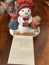 Cairn Christmas 1999 Large Tom Clark Tim Wolfe Gnome Rabbit Snowman #28 W/ Coa