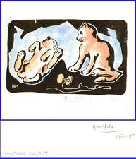 Gravure du XXe siècle et contemporaines signés animaux