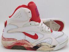 Nike Air Force 180 Mid Trainers White/Hyper Red/Black 537330 101 UK10/US11/EU45