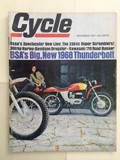 Cycle Magazine December 1967- BSA 650 Thunderbolt