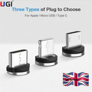 UK Magnetic Cable Plug Type C Micro USB C IOS Plugs Fast Charging Magnet Charger