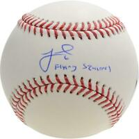 """Jeff McNeil New York Mets Autographed Baseball & """"Flying Squirrel"""" Inscription"""