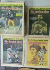 Sporting News lot of 49 vintage issues from 1976 - Jabbar, Havlicek, Lambert