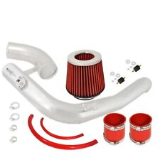 """For Honda Accord 08-11 V6 3.5L Cold Air Intake System Chrome W/ 3"""" Filter Red"""