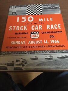 1966 August 14th USAC Stock Car Racing Program Milwaukee Mile State Fair Park