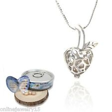 New Women helix(drop) pendant Natural Oyster Wish Love Pearl Necklace Jewelry F0