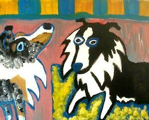 SHELTIE Abstract Art Print 5 x 7 | Collectible Artist KSams | Shetland Sheepdog