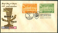 1959 Philippines 5TH ANNIVERSARY MANILA PACT 1954-1959 First Day Cover