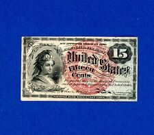Fractional Currency 15 Cents Nice Crisp Higher Grade Note