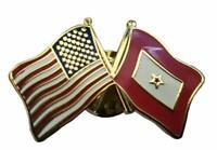3 PK USA KIA Gold Service Star Military Friendship Flag Bike Hat Cap lapel Pin