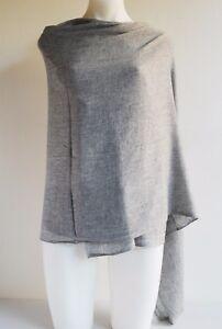 100% Grey Cashmere Shawl Pashmina Scarf Wrap Stole Women Wool Soft Warm 21