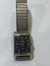 Vintage 1950s Wittnauer Axa 9E1 17j Black Face 10kGF Watch