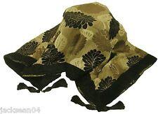 de luxe à glands chenille floral sofa lit Jeté scintillant noir argenté 145X180