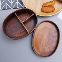 Brotdose Umweltschutz Bambus Lunchbox mit Holzdeckel Outdoor Camping Sushi Box