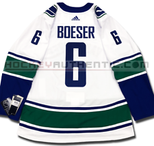 BROCK BOESER VANCOUVER CANUCKS AWAY AUTHENTIC PRO ADIDAS NHL JERSEY