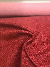 LAURA ASHLEY RED CHENILLE UPHOLSTERY FABRIC 1.9 METRES