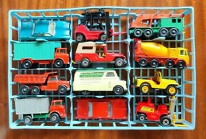 Matchbox Lesney Superfast & Regulars group x 12 Pontiac Lincoln Dumper Crane