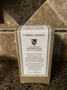 New Caswell - Massey SANDALWOOD Triple Milled Soap on a Rope, 8 oz