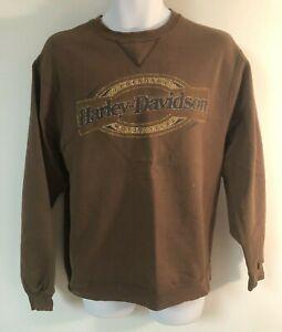Harley Davidson sweat shirt Size Medium Brown Fayetteville N.C.