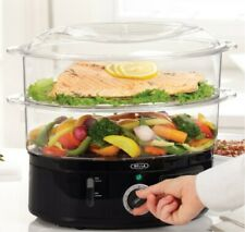 Bella Food Steamer Stainless Steel 7.4 Quart With 2-Tier Stackable Dual Bask 00004000 et