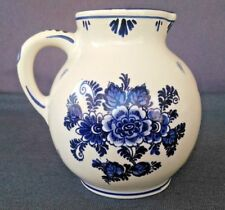 """Vintage Delft Blue Handwork Pitcher - Made in Holland 6 3/4"""" Tall"""